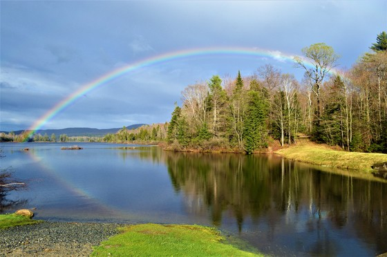 Rainbow on McDaniels Marsh