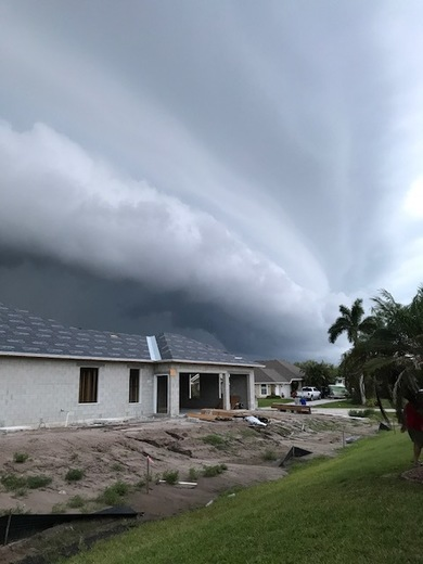 Roll cloud over Vero Beach