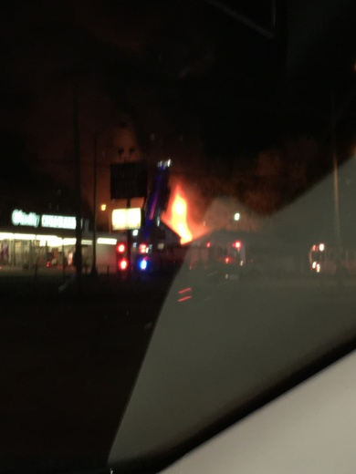 Fire at 60th and Ames at 11:55pm