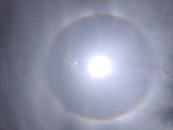 Rainbow around the sun in Franklin