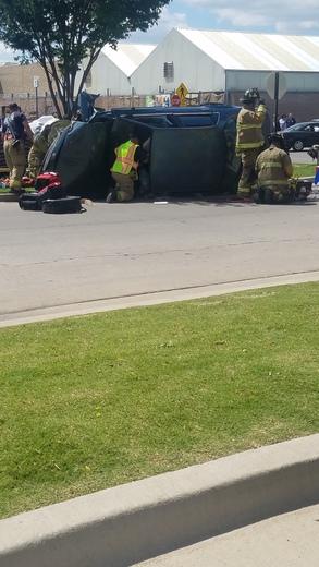 Overturn car at Wal-Mart parking lot