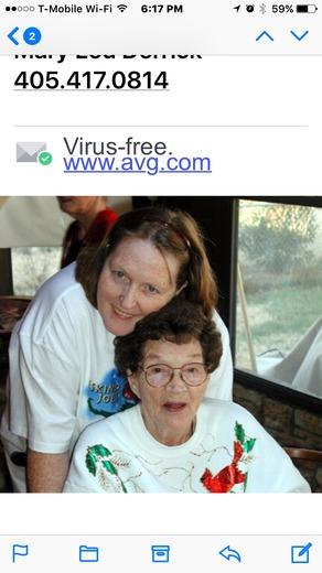 Nancy Hogan and beloved mom Lorraine Gann.