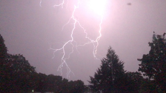 Thunder & Lighting storm 5-18-17 in Milford, NH