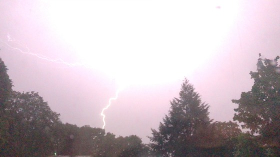 Thunder & Lighting storm 5-18-17 in Milford, NH