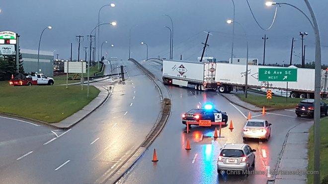 Calgary Ab Storm Takes Down Power Lines