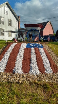 Lawn art for Memorial Day
