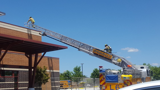 Wall fire at Washington regional Springdale location