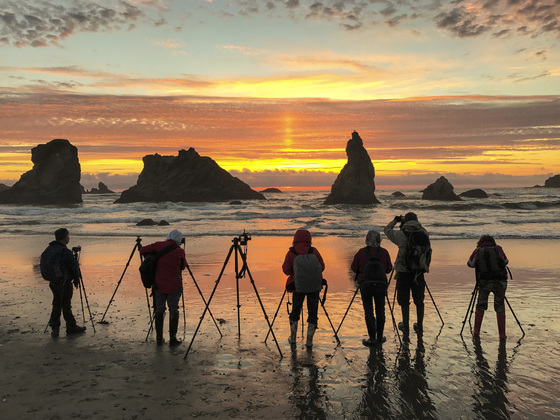 Activities Category Winner - Chasing the golden light at Bandon