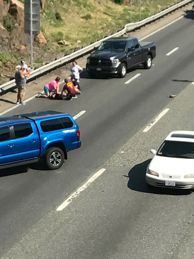 93 South Motorcycle Accident photos 6/11/2017