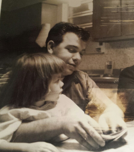 sweet father-daughter moment circa 1965