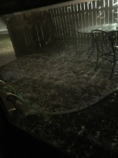 hail from storm