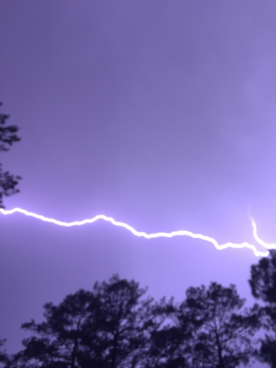 Lightening in Terry tonight