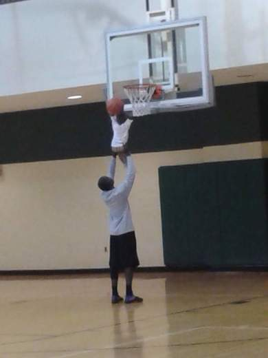Baby's First Dunk