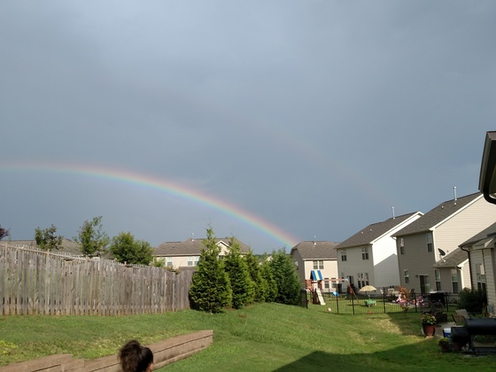 Beautiful Rainbow Today in Mebane!