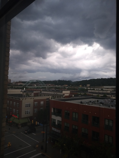 Clouds are rolling in on the South side