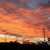 Un beau ciel coloré.
