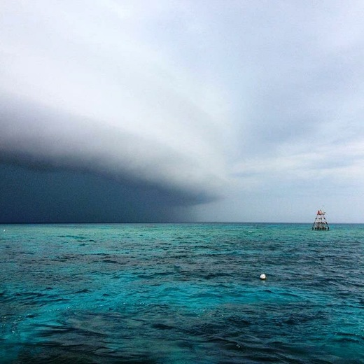 Squalls out on the Gulfstream