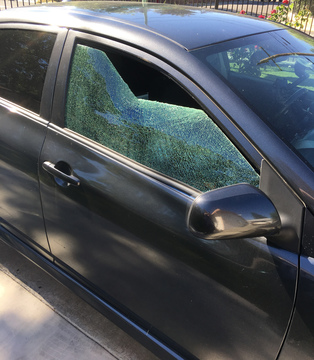 Homeless Attacking Cars Along Garden Hwy with Large Rocks