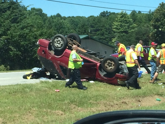 Wreck on Hwy 28-July 26