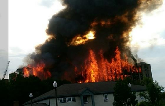Sanford mill fire