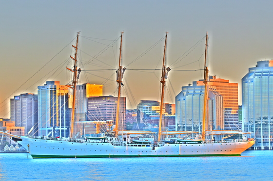 Tall Ship Esmeralda Painting the Town