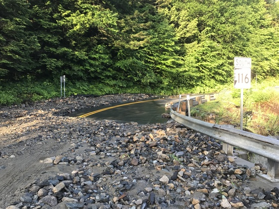 Route 112 & 116 Road washouts