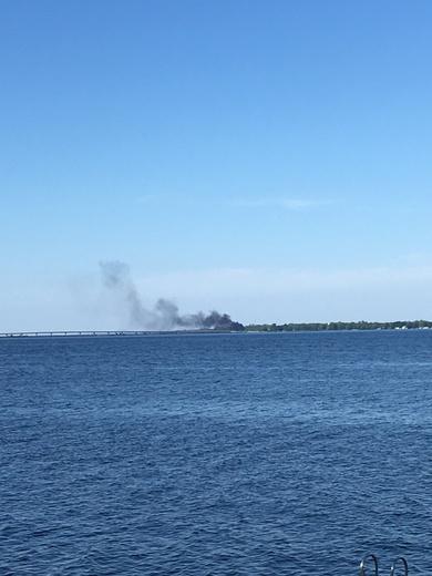 Smoke Alburgh/swanton bridge