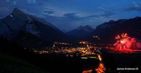 Banff Canada 150 fireworks (2)