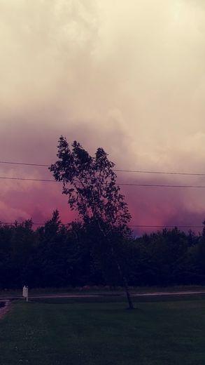 Red sky 7/8/17