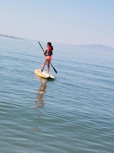 Paddle board reflection