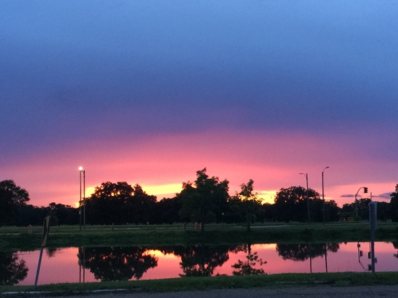 Sunset at Parkview on Bayou St. John