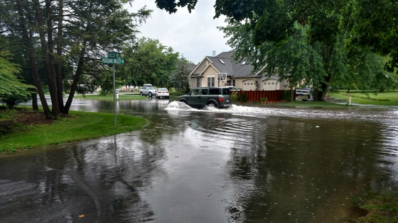 Flooding in Leola