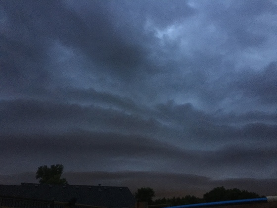 Storm front moving in to Independence