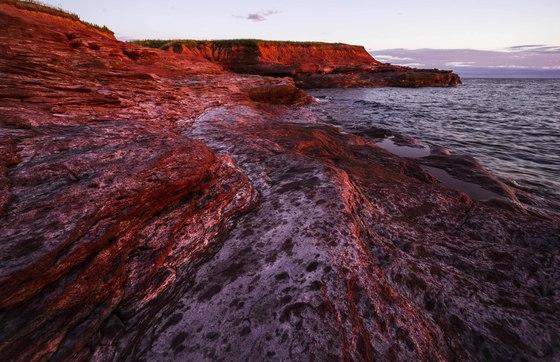 Western PEI's red cliffs