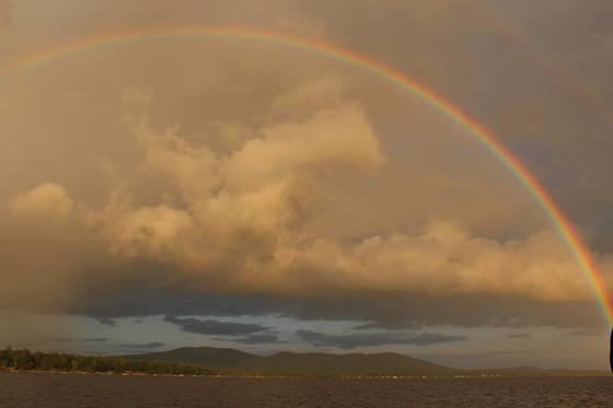Ossipee Lake Double Rainbow
