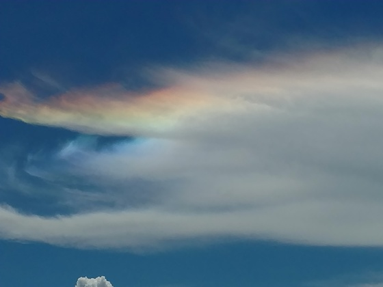 Cloud rainbow!