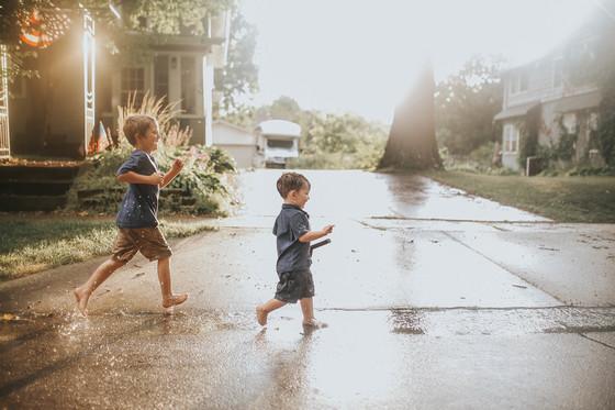 Iowa summer rain