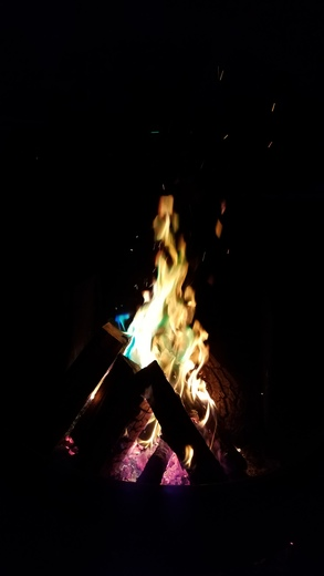 Campfire at Two Rivers State Park