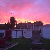 Un ciel en feux ce matin