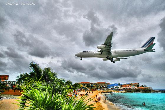 Air France landing at Princess Juliana