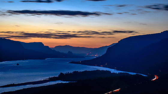 First Light in the Columbia River Gorge