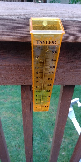 Rain in OlatheDescription: Rain gauge K7 and College