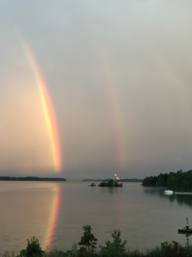Double Rainbow over Lake Champlain