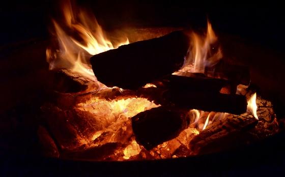 Campfire in Michigan