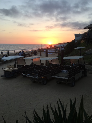 Sunset happy hour at Crystal Cove