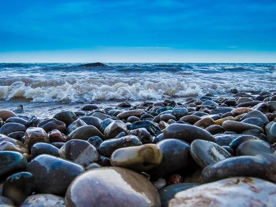 Sky, Water, Stones