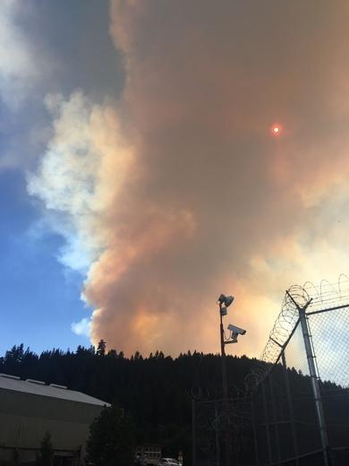 Plumas County wildfire (Quincy)
