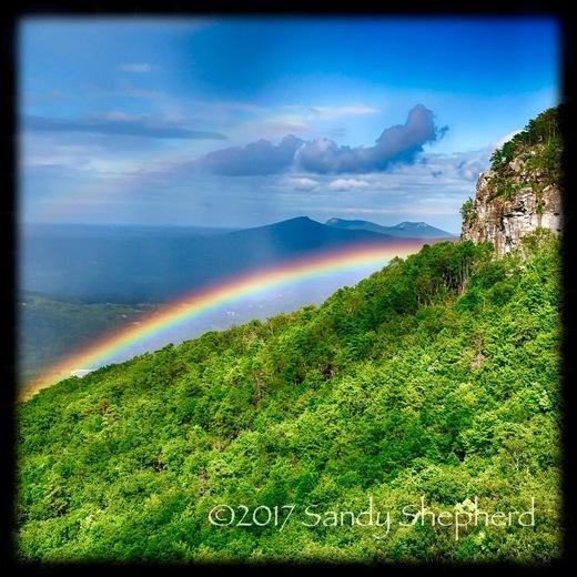 Rainbow at Pilot Mountain