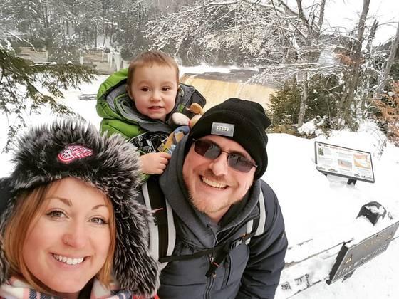 Winter hike at the falls