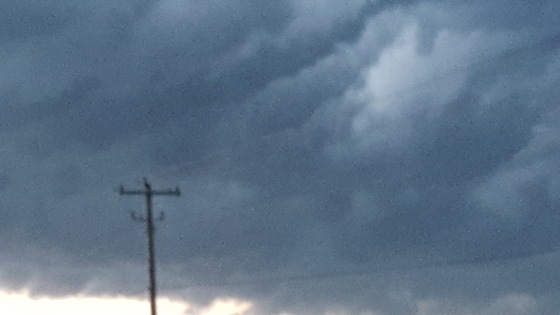Crazy swirling clouds